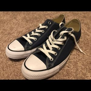 Like new Converse All Stars OX Navy shoes